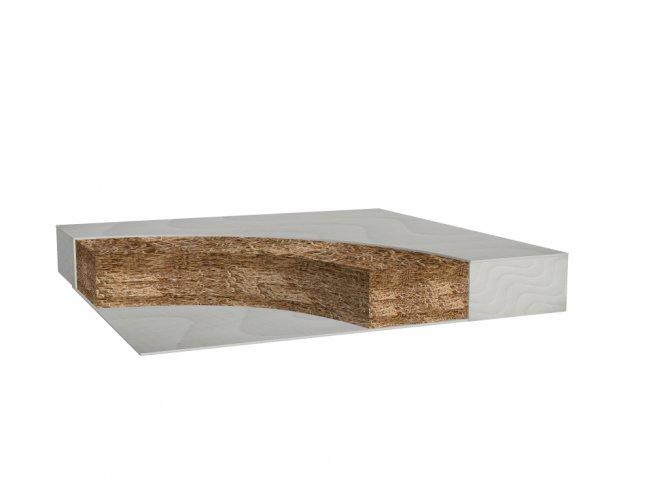 Kokosinis čiužinys Eco (70 x 140 cm, h - 6 cm)